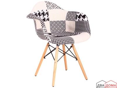 Крісло Salex FB Wood Patchwork чорно білий AMF
